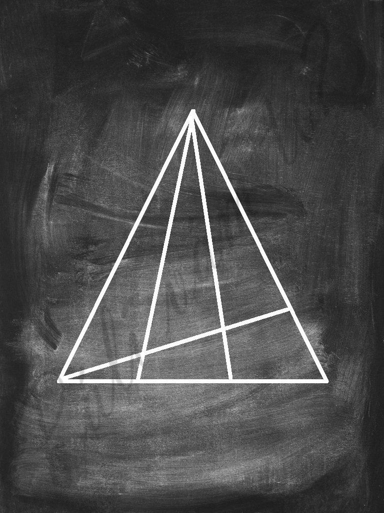 Spočítaj všetky trojuholníky na obrázku. Koľko ich vidíš?