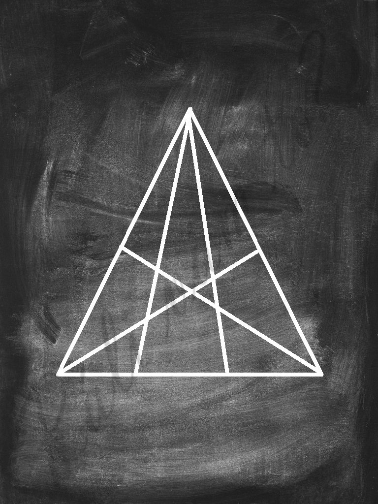 nájdi všetky trojuholníky - obrázková úloha