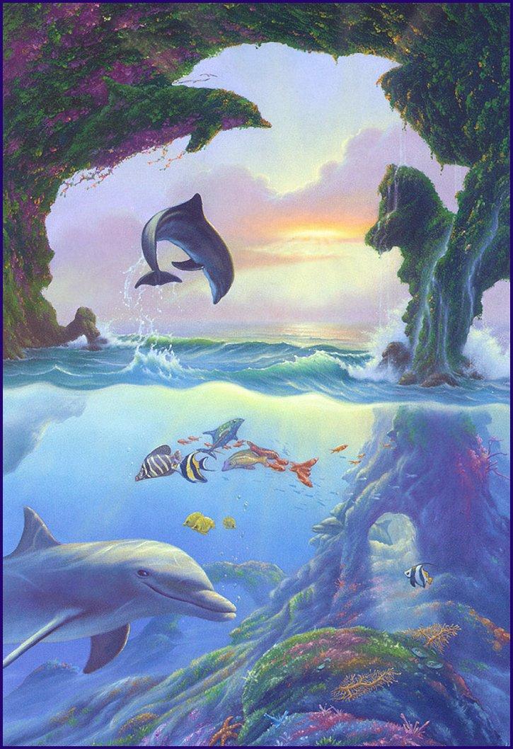 Koľko delfínov sa podľa vás nachádza na obrázku?  (optická ilúzia)
