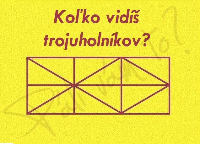 Spočítaj všetky trojuholníky? Obrázkový hlavolam v ktorom si precvičíte váš postreh a koncentráciu.