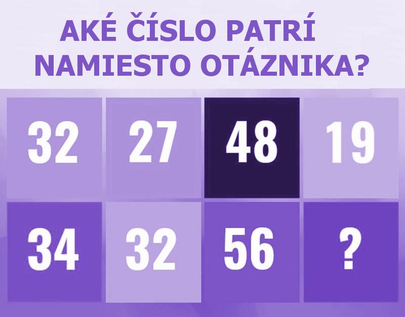 Hra s číslami - dosaďte do tabuľky chýbajúce číslo.