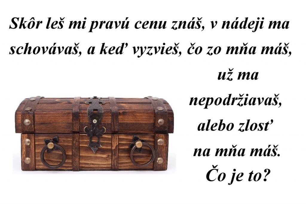 Máte radi naše slovenské hádanky? Podarí sa vám vyriešiť tú dnešnú? :)