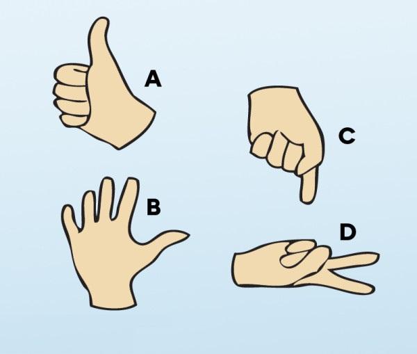 Ktorá ruka k ostatným nepatrí? (obrázkový hlavolam)