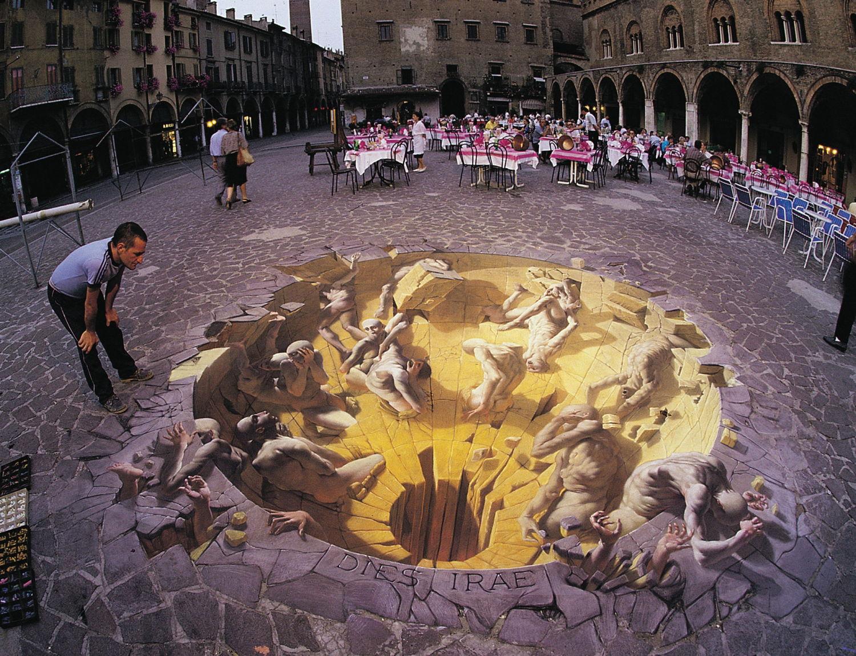 3D obrázok, na ktorý sa dívate vytvára dokonalú ilúziu podzemia. Neuveriteľne realistické.