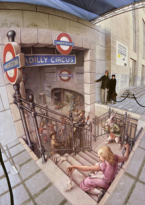 dokonalá ilúzia, takmer realistická maľba.... avšak iba z určitého uhla.