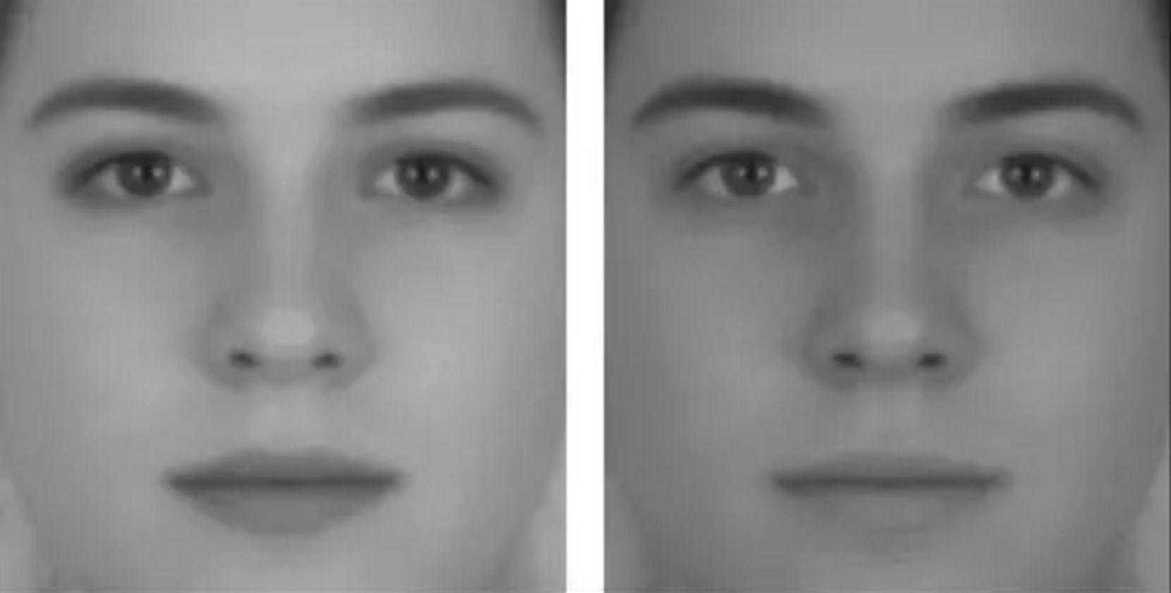 Dve tváre - optické ilúzie, ktoré pracujú s farebnosťou.