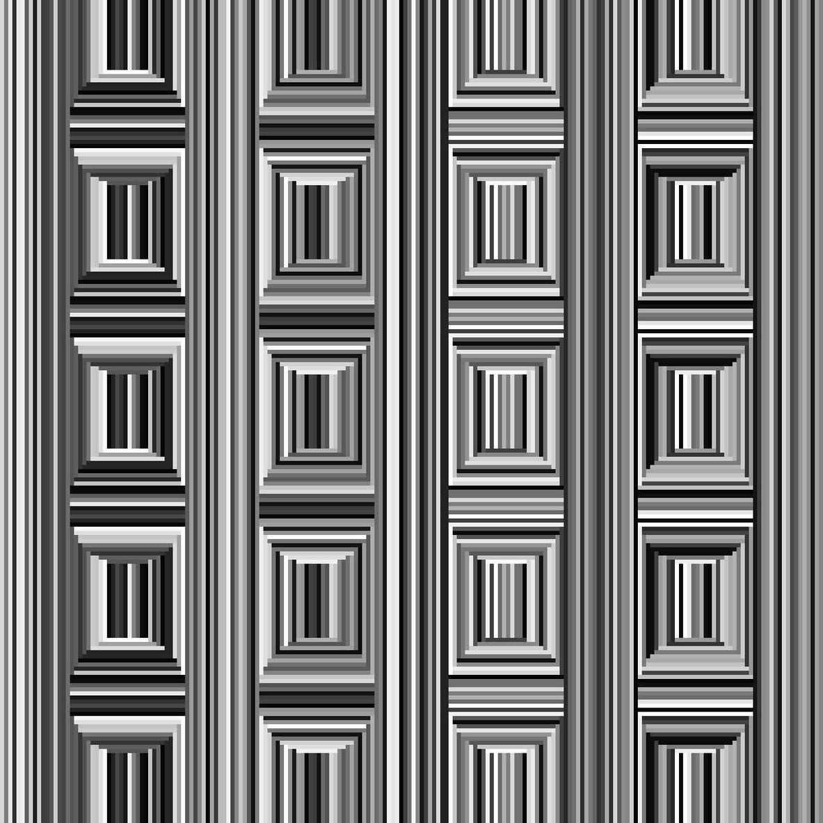 Štvorce vidí každý. Optické klamy dokážu meniť geometrické tvary? Je to možné?